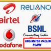 Unlimited Calling Plan By Airtel, Idea, Vodafone & BSNL Launched