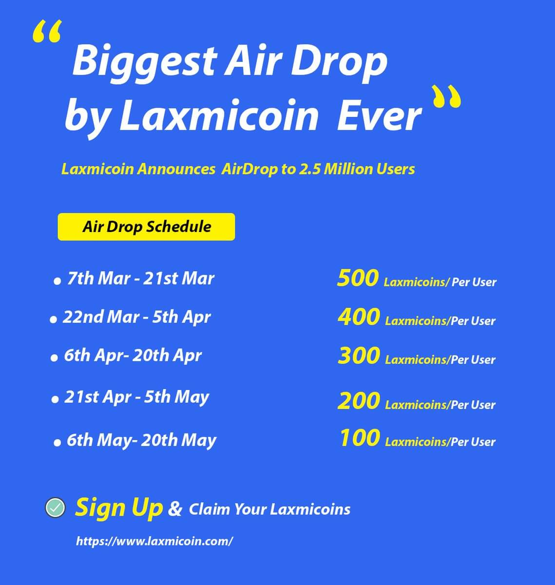 laxmi coin signup
