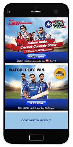 jio cricket play along game