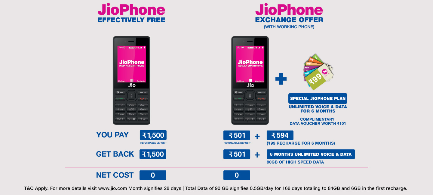 jio phone exchange